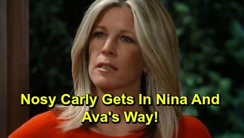 General Hospital Spoilers: Nosy Carly Poses Threat to Ava and Nina's Takedown Plan – Meddler Snoops, Determined to Figure Out Secret