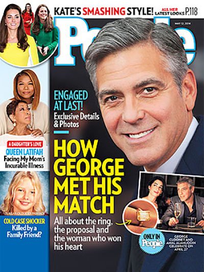 George Clooney And Amal Alamuddin Engagement - Exclusive Details - See Ring (PHOTO)