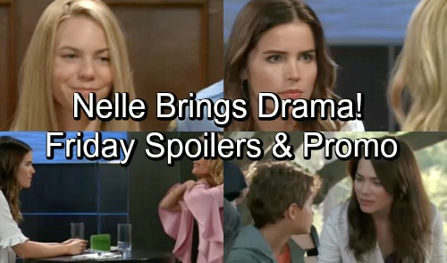 General Hospital Spoilers: Friday, October 12 – Nelle Brings Big Drama – Nina Pushes Sasha Too Hard – Liz Learns a Secret