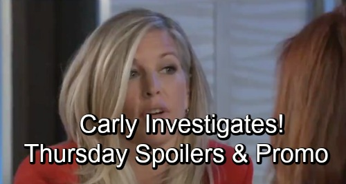 General Hospital Spoilers: Thursday, October 18 – Carly Investigates – Olivia Delivers a Shocking Blow – Cameron Can't Resist