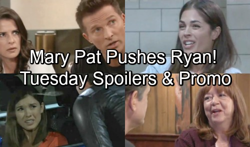General Hospital Spoilers: Tuesday, October 30 – Mary Pat Pushes Ryan to the Edge – Chase Causes a Panic – Britt Plays Hardball