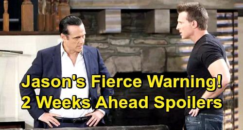 General Hospital Spoilers: 2 Weeks Ahead - Jason's Fierce Warning to Sonny – Carly's Heartbreak, CarSon Divorce?