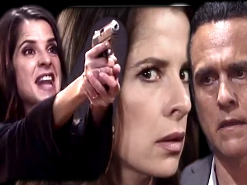 General Hospital Spoilers: Sam Morgan Attacks Sonny With A Gun - Hallucinations Tell Her To Murder Mobster
