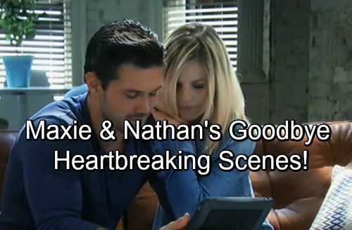 General Hospital Spoilers: Two Weeks Ahead - Nathan and Maxie's Heartbreaking Final Goodbye Scenes