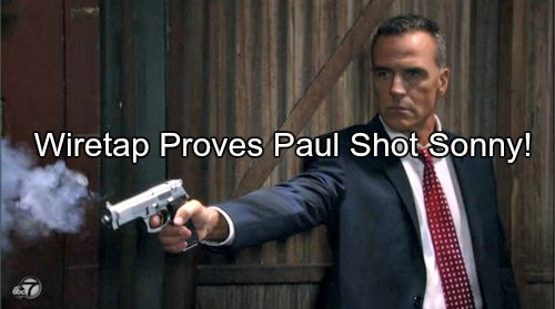 General Hospital (GH) Spoilers: Sonny Shocked by Paul Wire Tap - Discovers DA Shot Him, Not Carlos