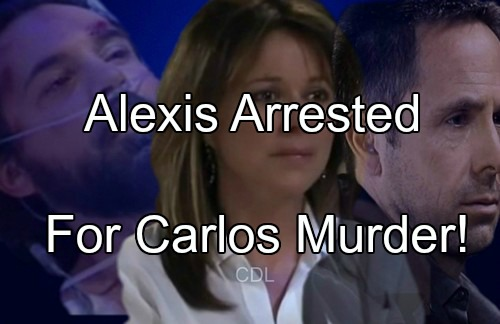 General Hospital (GH) Spoilers: Alexis Arrested for Carlos Murder - Did Julian Set Up Wife?