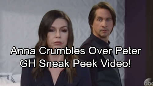 General Hospital Spoilers: GH Sneak Peek Video – Anna Crumbles Over Peter, Finn's Her Rock – Love Blooms for 'Fanna'