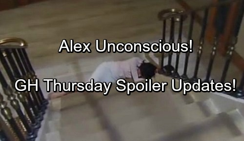 General Hospital Spoilers: Thursday, May 18 – Alex Unconscious - Valentin Rages at Lulu – Nelle's Lonely Despair