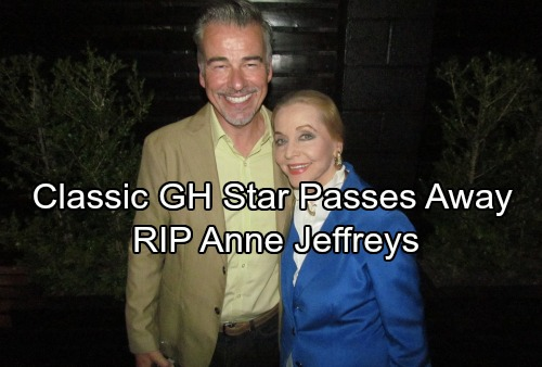 General Hospital Spoilers: Classic GH Star Passes Away - Soap World Grieves Over Anne Jeffreys' Death