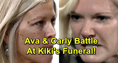 General Hospital Spoilers: Fierce Funeral Faceoff – Carly Shocked by Raging Ava's Attack, Kiki's Memorial Service Explodes