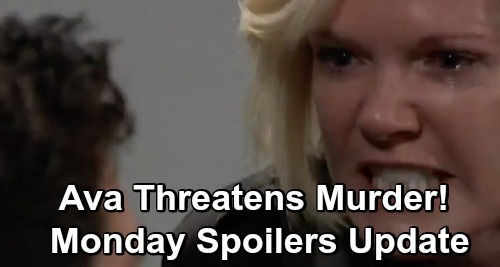 General Hospital Spoilers: Monday, December 3 Update – Ava Threatens to Murder Griffin – Curtis' Crucial Lead – Carly's Exciting News