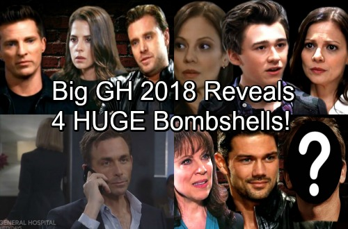 General Hospital Spoilers: 4 Huge Bombshells Shake Up GH In 2018 – Romance, Paternity, and Danger
