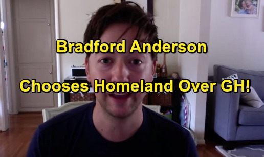 General Hospital Spoilers: Bradford Anderson Schedule Conflict - Chooses Homeland Reccuring Role Over GH Filming Commitment