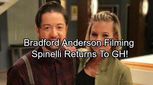 General Hospital Spoilers: Bradford Anderson Announces GH Return -  Spinelli Back Filming