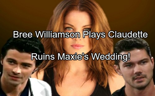 General Hospital (GH) Spoilers: Bree Williamson Cast as Claudette Turns Up in PC - Wrecks Nathan and Maxie's Wedding