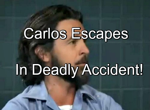 General Hospital (GH) Spoilers: Carlos Jailbreak - Escapes PCPD Custody Amid Terrifying Accident