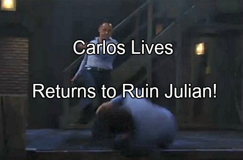 General Hospital (GH) Spoilers: Carlos Lives - Julian Arrested at Nurse's Ball for Duke's Murder and Carlos' Stabbing