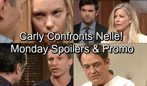 General Hospital Spoilers: Monday, October 15 – Carly Confronts Nelle with Wiley Suspicions – Sam and Liz Clash – Kevin Begs Ryan
