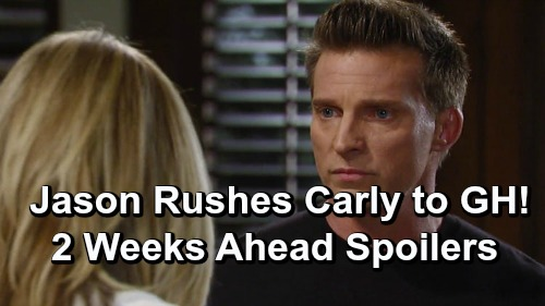General Hospital Spoilers: 2 Weeks Ahead - Jason Rushes Carly to GH – Leaves Sam Vulnerable to Shiloh