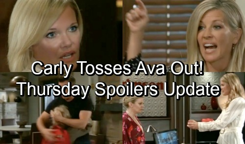 General Hospital Spoilers: Thursday, October 4 – Carly Throws Ava Out – Nina Works to Convince Maxie – Jason's Family Time