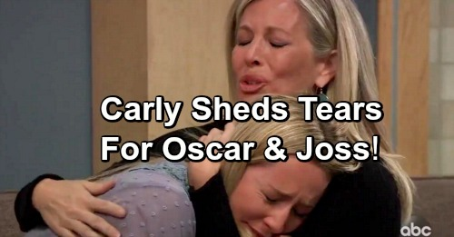 General Hospital Spoilers: Carly Moved To Tears Over Oscar's Death and Joss's Broken Heart - Visions of Robin and Stone
