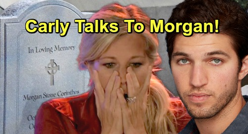 General Hospital Spoilers: Terrified Carly Shares Baby Fears with Morgan – Cemetery Visit Sets Up Tragic Loss