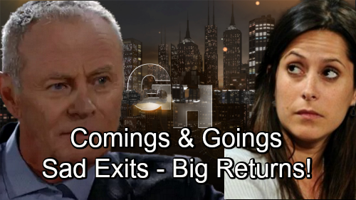 General Hospital Spoilers: Comings and Goings - Robert's GH Future Uncertain – Ryan Shockers Ahead - Robin Returns to Port Charles