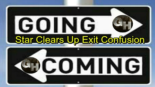General Hospital Spoilers: Comings and Goings – Tough Departure Draws Near – GH Star Clears Up Exit Confusion