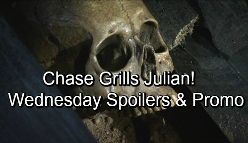 General Hospital Spoilers: Wednesday, September 12 – Chase Grills Julian About the Body – Anna Seeks Robin's Forgiveness – Oscar Explodes