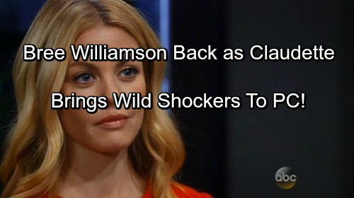 General Hospital Spoilers: Bree Williamson Back as Claudette – Brings Shocking Drama for Port Charles Residents