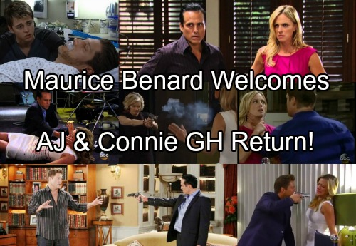 General Hospital Spoilers: Maurice Benard Welcomes AJ's and Connie's Return To GH - Looks Forward To Great Scenes With Sonny