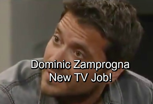General Hospital Spoilers: Dominic Zamprogna's New Job - Dante's Keeping Busy