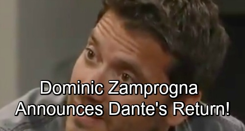 General Hospital Spoilers: Dominic Zamprogna Back as Dante – Exciting GH Return News