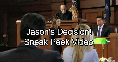 General Hospital Spoilers: GH Sneak Peek Video – Jason's Terrible Choice – Margaux's Pressure Buries Carly