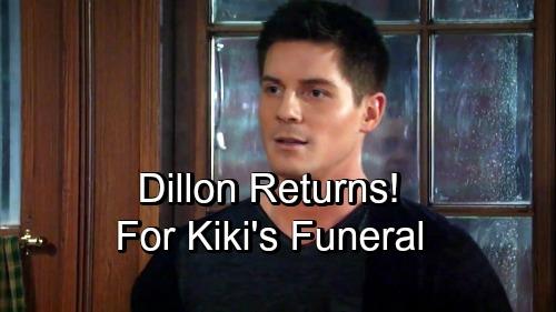 General Hospital Spoilers: Dillon Returns for Kiki's Crushing Funeral – Robert Palmer Watkins Comeback?