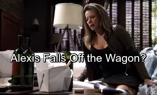 General Hospital Spoilers: Alexis Falls Off the Wagon Over Finn Heartache