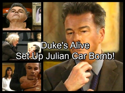General Hospital Spoilers: Duke's Alive And Is The Julian Car Bomb Mastermind – Duke Impostor Died in Anna's Arms?