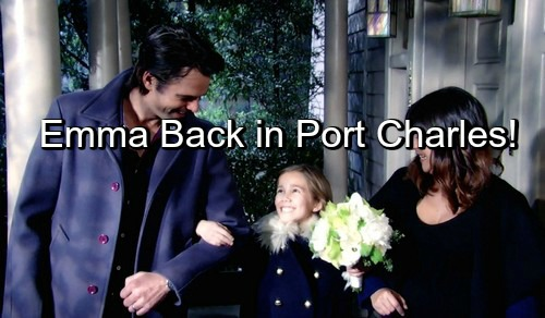 General Hospital Spoilers: Brooklyn Rae Silzer and Wally Kurth Return to GH This Week – Emma and Ned Take Port Charles!