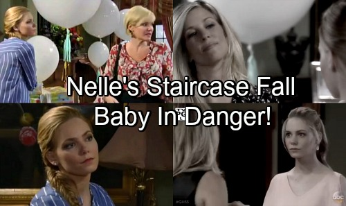 General Hospital Spoilers: Nelle's Shocking Staircase Tumble – Shower Plot Against Carly Backfires, Baby in Danger