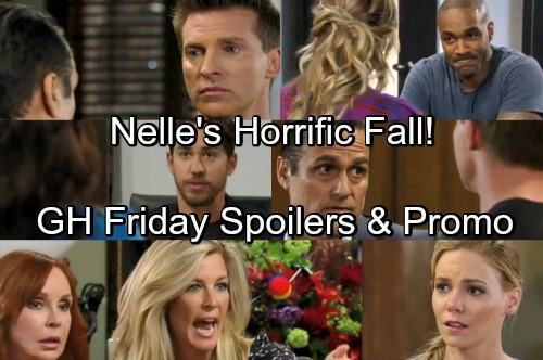 General Hospital Spoilers: Friday, May 11 – Nelle's Horrific Fall – Peter Pushes Sam Too Far – Sonny and Jason's Risky Plan