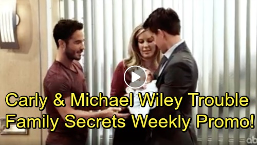 General Hospital Spoilers: Hot New Family Secrets Promo - Kiki Slaps Ava - Michael and Carly Make 'Wiley' Trouble - Cam Spies on Oscar