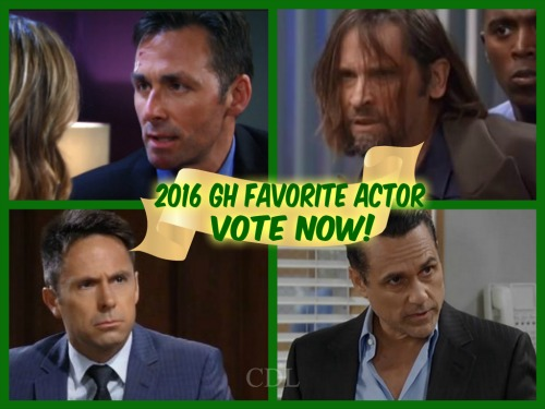 General Hospital Spoilers: Best GH Actor Poll – Vote for Your Favorite Male Performer in 2016