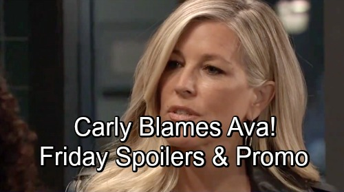 General Hospital Spoilers: Friday, November 9 – Nina Apologizes to Sasha - Carly Points the Finger at Ava
