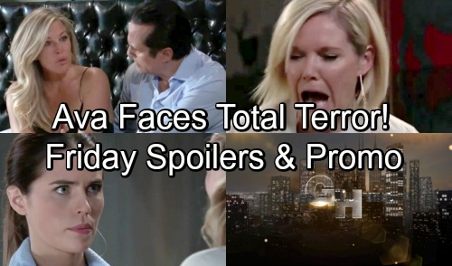 General Hospital Spoilers: Friday, November 2 – Ava Faces Total Terror – Chase's Ghastly Discovery – Sasha's News Riles Nina
