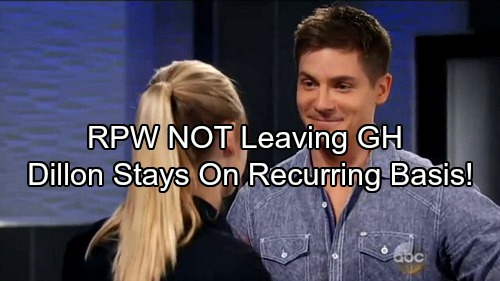 General Hospital Spoilers: Robert Palmer Watkins NOT Fired – Report Says Dillon Staying at GH on Recurring Basis