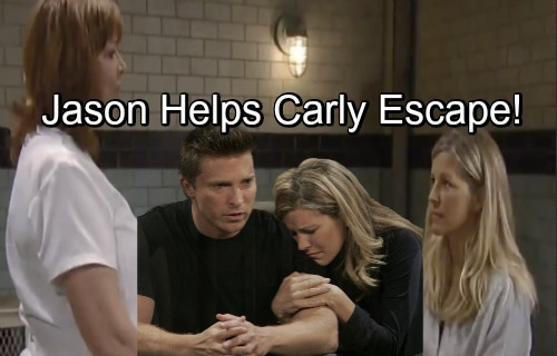 General Hospital Spoilers: Jason Infiltrates Ferncliff, Helps Carly Escape – Provides Hideout, Works to Prove Her Innocence