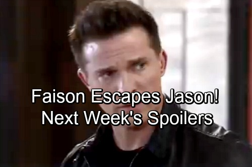 General Hospital Spoilers: Week of January 29 - Faison Escapes Jason's Clutches in Deadly Showdown - Peter's To Blame