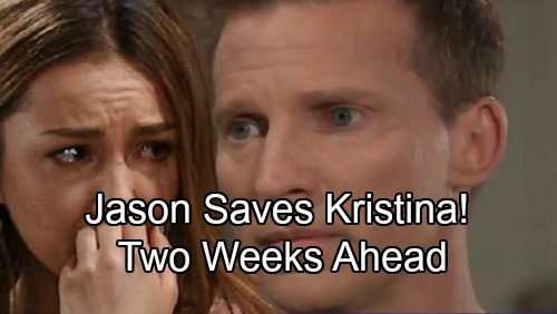 General Hospital Spoilers: Two Weeks Ahead - Jason Saves Kristina From Crushing Nightmare