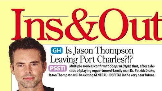 General Hospital Spoilers: Jason Thompson Quits GH - Dr. Patrick Drake Recast or Gone?