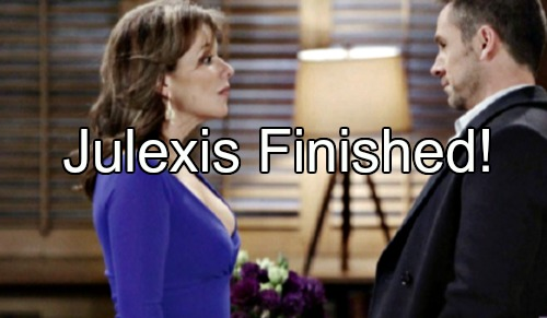 General Hospital (GH) Spoilers: Julian Attacks Alexis Over Bloody Shirt - Julexis All Over But The Crying